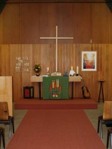 Altarblick nach der Innenrenovierung 1987